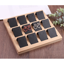 12pcs Earring Card Holder with Tray for Earrings Ring Multi-function Jewelry Storage Box Accessory Display