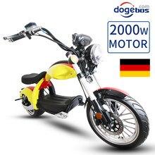 Trottinette électrique pour adulte, 2 roues, gros pneus, moteur puissant, 2000w