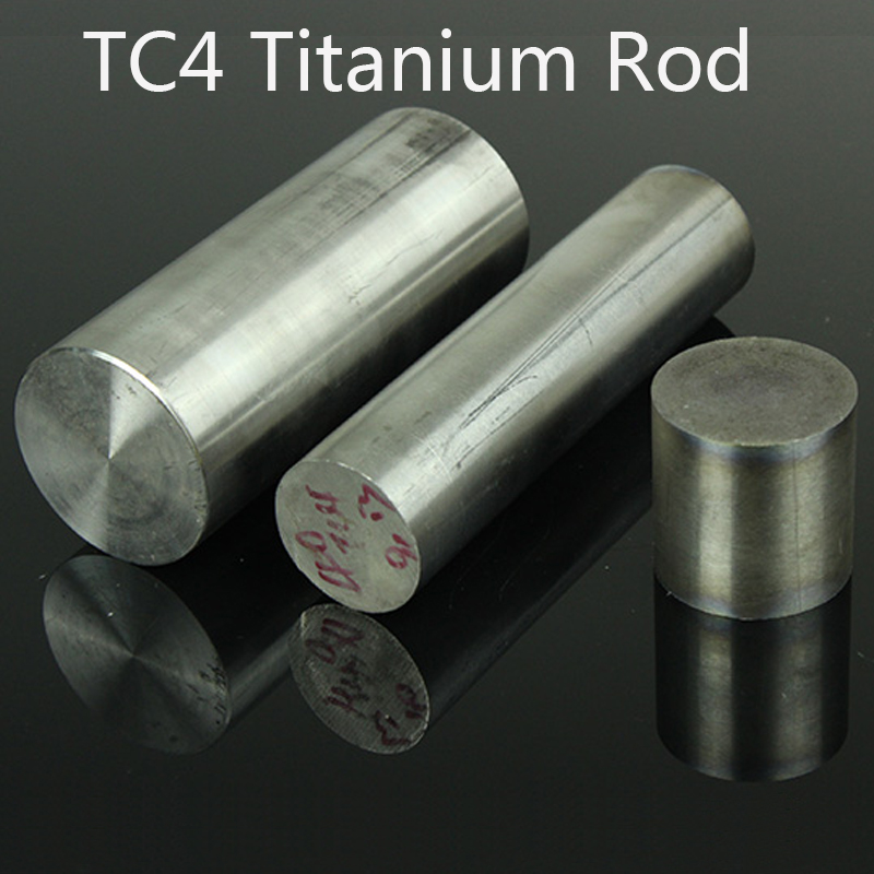 TC4 Round Titanium Alloy Rod High Purity Ti Bar Manufacturing Gas Turbine  Diameter 3mm-200mm Length 100mm
