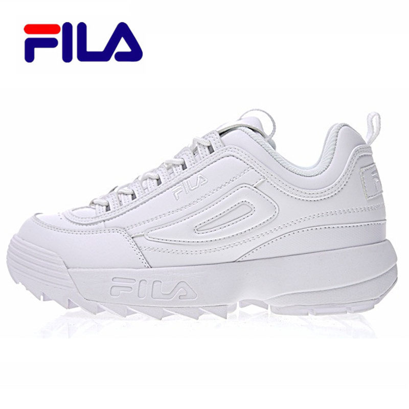 Fila Disruptor II 2 Men's Sneaker Running Shoes White-brown And White Summer Increased Outdoor Sneaker