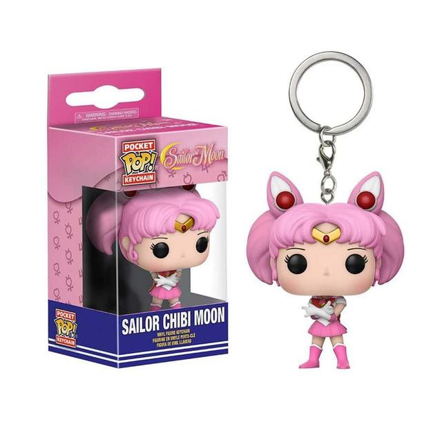 FUNKO POP Keychain Sonic Venom Sailor Moon Uzumaki Naruto Action Figure Toys Decoration Model for Kids Gifts 5