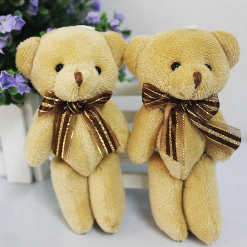 1pcs น่ารักตุ๊กตา Mini ริบบิ้นสีน้ำตาลตุ๊กตาหมีตุ๊กตาหมีตุ๊กตาสัตว์ตุ๊กตาของเล่นเด็กตุ๊กตาช่อดอกไม้ใหม่