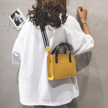 Fashion Ladies Handbag PU Leather Messenger Bag For Women Youth Work Simple Solid Color Suitable Everyday Use Yellow