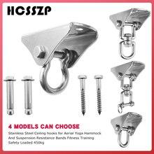 Swing Hanger for Wooden Concrete Set Heavy Duty 1000 lb Capacity Antirust Stainless Steel Suspension Ceiling Hooks