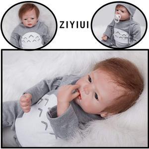 Реалистичные 22 дюйма 55 см Возрожденные куклы для маленьких мальчиков, мягкие силиконовые виниловые игрушки для новорожденных, подарок на д...