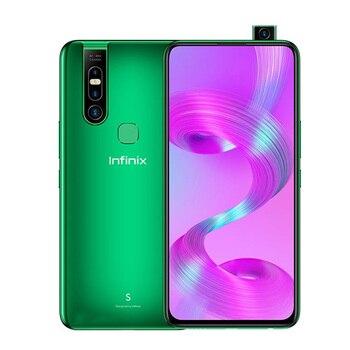 Перейти на Алиэкспресс и купить Совершенно новый Infinix S5 Pro 4G LTE мобильный телефон 6,53 дюйм6 ГБ ОЗУ 128 Гб ПЗУ Восьмиядерный Android 10,0 две sim-карты отпечаток пальца смартфон