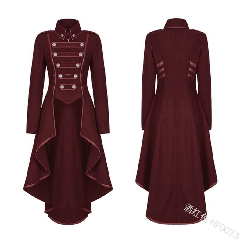Hde996c8c2ed440878daae25a3090237fc JIEZuoFang Black Medieval Dress For Adult Women Punk Victorian Retro Costume Renaissance Gothic Jacket Tuxedo Halloween Costumes