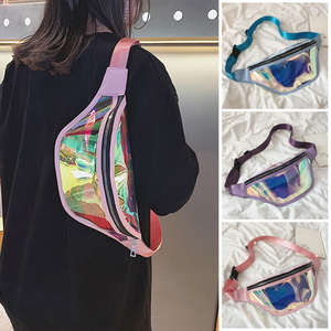 Pouch Packs Bum-Bags Holographic Women Fanny Punk Waterproof New