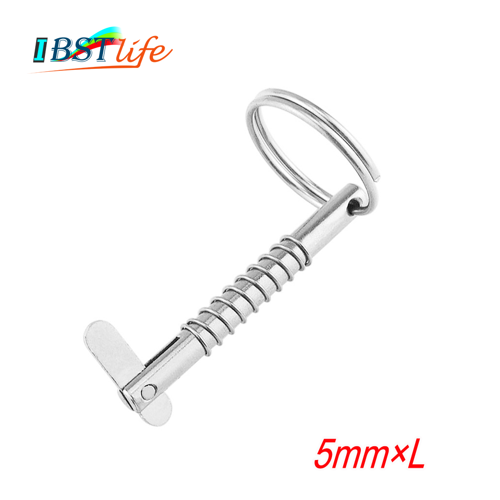 5mm BSET MATEL Marine Grade 316 Stainless Steel Quick Release Pin For Boat Bimini Top Deck Hinge Marine Hardware Boat