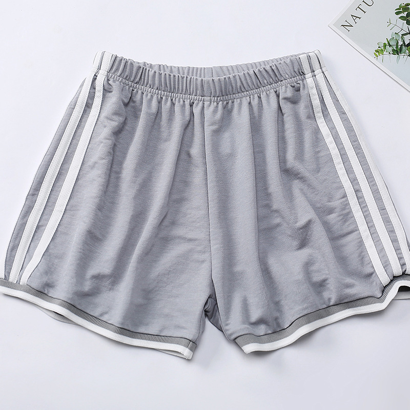 Summer 2020 Popular Women's Shorts Solid Color Striped Elastic Shorts  909#