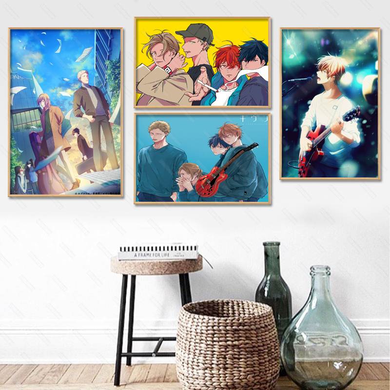 Given Anime Poster Custom Canvas Poster Art Home Decoration Cloth Fabric Wall Poster Print Silk Fabric 30X45cm40X60cm