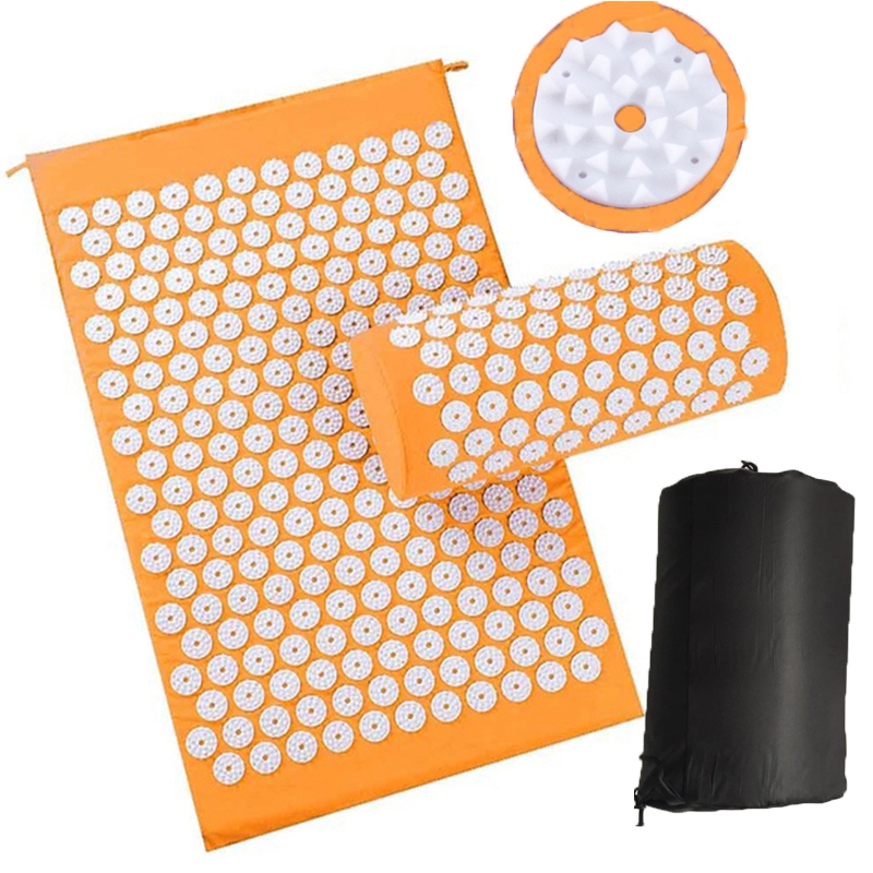Body Relaxing Acupressure Massage Mat with Pillow for Neck and Back pain 17
