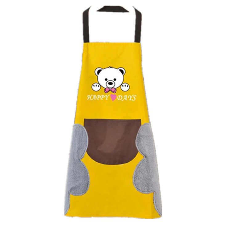 Mano asciugamano grembiule macchia impermeabile cucina di casa di cottura vita Coreano creativo simpatico orso appeso al collo asciugamano grembiule oversleeve