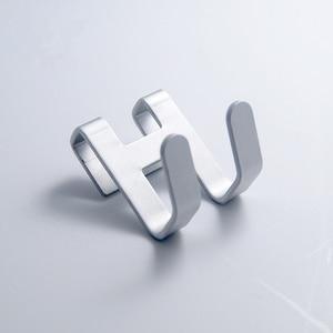 Image 5 - スペースアルミニウム金属ドアフックラック送料ネイルウォールフックキーホルダータオルハンガー服棚バスルームオーガナイザー