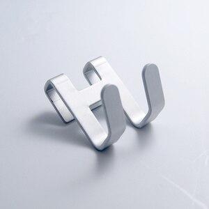 Image 5 - Espaço de alumínio metal porta gancho rack livre prego parede gancho titular chave toalha cabide roupas prateleiras do banheiro organizador