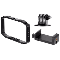 Handheld Camera Cage for OSMO Action/YI/EKEN for Gopro 7 6 Smartphone Stand Holder Video Vlog Grip Stabilizer Rig Bracket