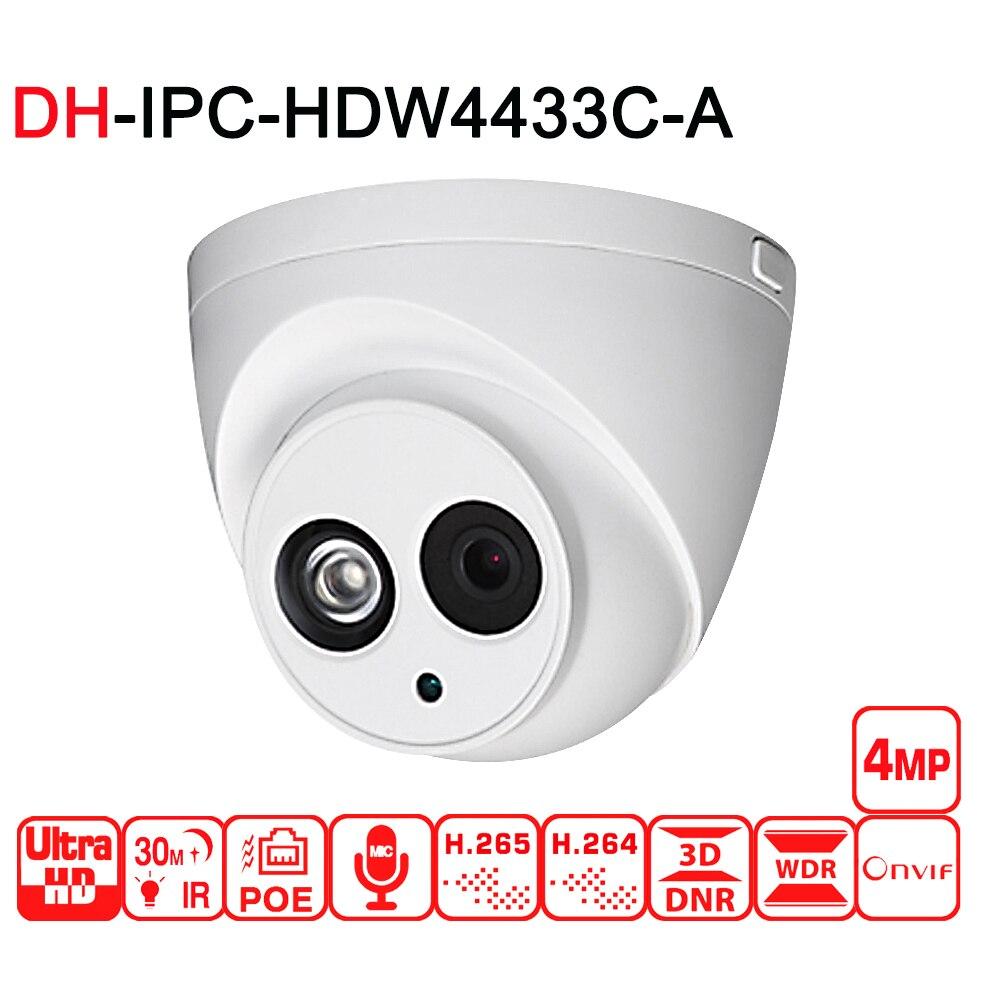 Caméra IP DH 4MP caméra dôme de vidéosurveillance de sécurité IPC HDW4433C A avec mise à niveau du micro intégré POE de IPC HDW4431C A-in Caméras de surveillance from Sécurité et Protection on AliExpress - 11.11_Double 11_Singles' Day 1