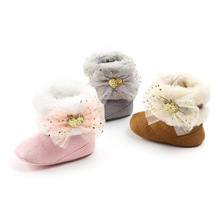 New Style Semi-Resin Sole Winter Style Thick Baby Warm Shoes Cotton Boots Baby Boots BABY #8217 S Shoes cheap First Walkers Solid Color Tube Cotton Shoes 5 Yards 13 Cm 109G Dark Gray 2 Days Hight top Currently Available Velcro 2019 Winter