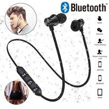 Manyetik Bluetooth kablosuz Stereo kulaklık spor kulaklık için iPhone X 7 8 Samsung S8 Xiaomi Huawei su geçirmez kulakiçi Mic ile