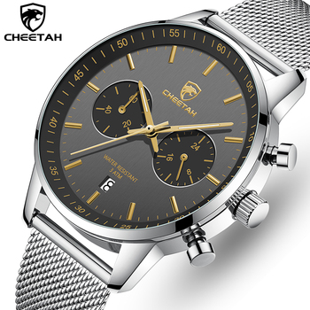 CHEETAH Watches for Men Stainless Steel Waterproof Quartz Men's Watch Top Brand Chronograph Sports Male Clock Relogio Masculino
