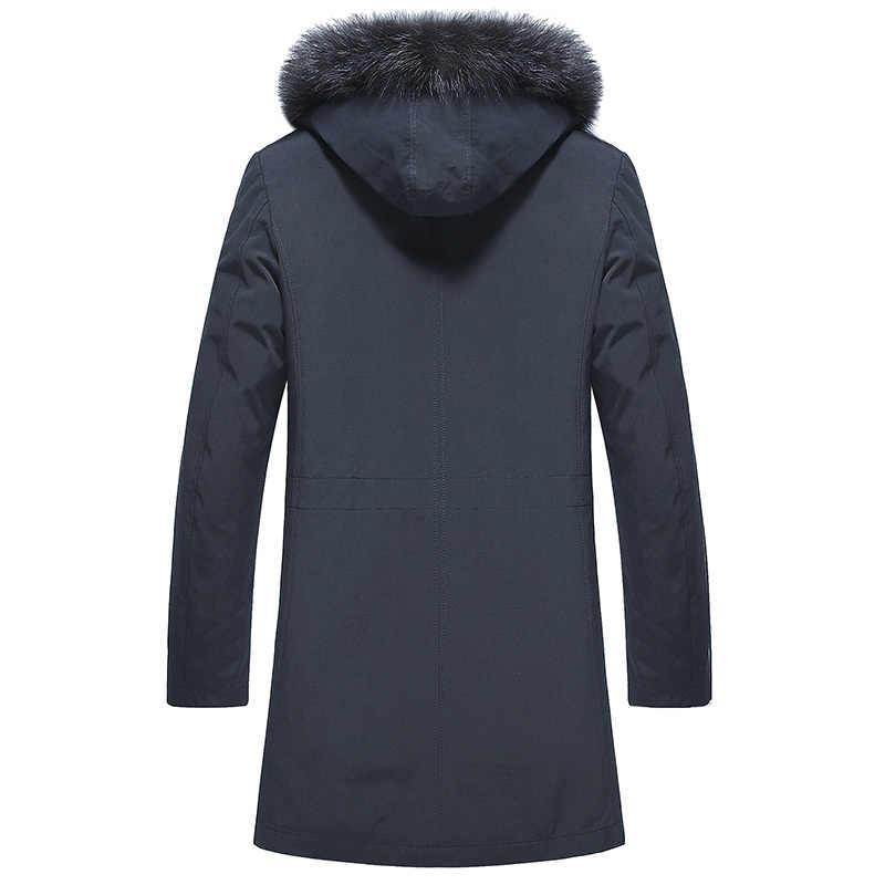 Thật Áo Khoác Lông Tự Nhiên Gấu Trúc Lông Khoác Áo Khoác Mùa Đông Nam Quần Áo 2020 Cao Cấp Lông Ấm Áo Plus Kích Thước 4XL 5XL chaqueta MY1617