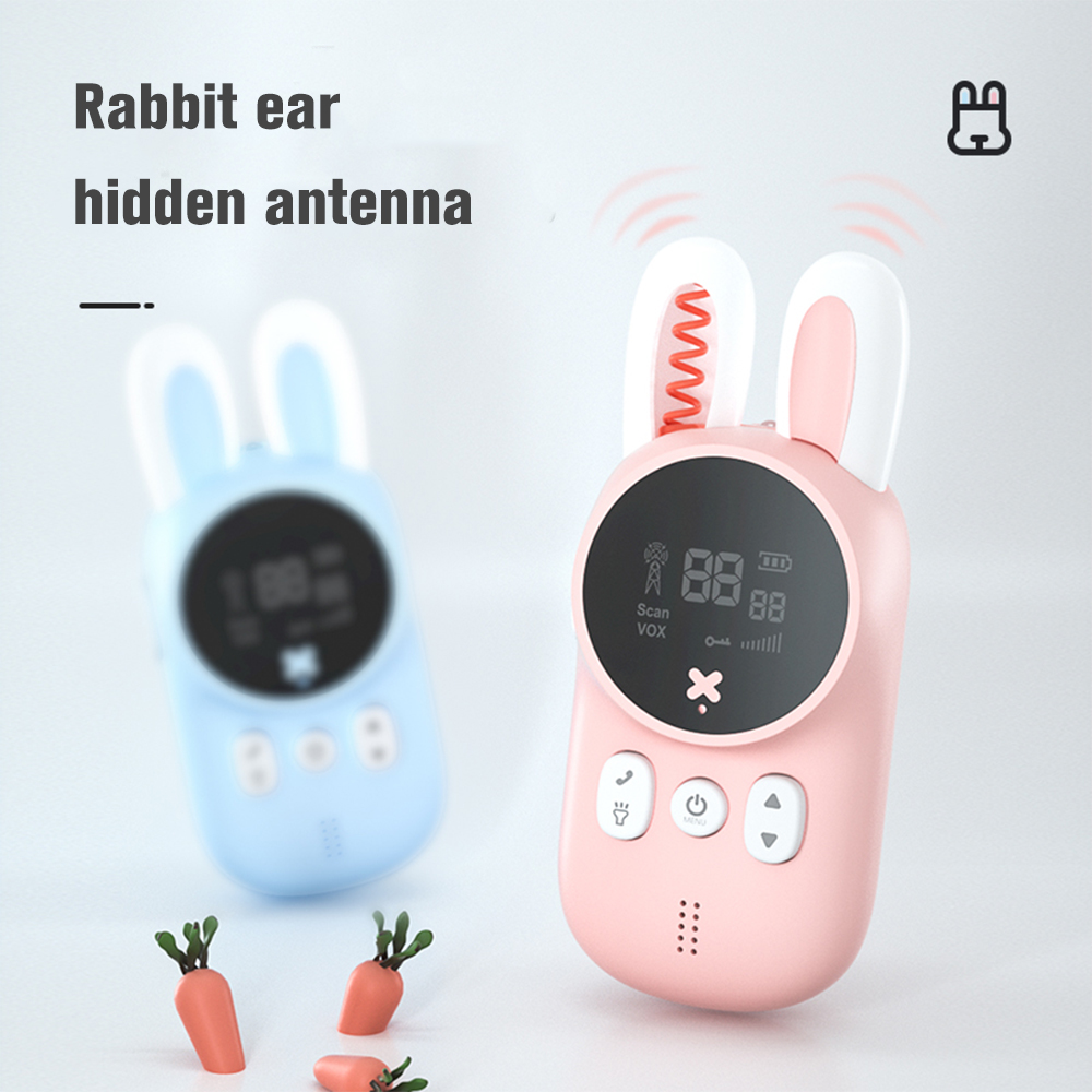 Mini Kids Walkie Talkie Toys Child Portable Two Way Radio 1-3 km Comunicador For Camping/ Family/Children Gift Cute Rabbit Style