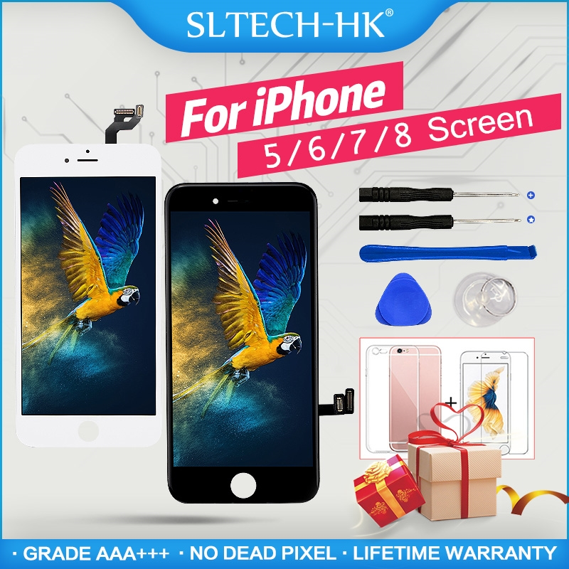 AAA +++ สำหรับ iPhone 6 6S 7 8 PLUS LCD 3D TOUCH สำหรับ iPhone 4 5 5C 5S 5SE Display ไม่มี Dead Pixel title=
