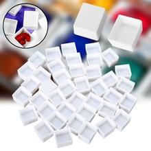 10/40pcs Empty Full/Half Pan White Half Pans Paint Plastic Water Colour Grid Artists Palette Art Supplies