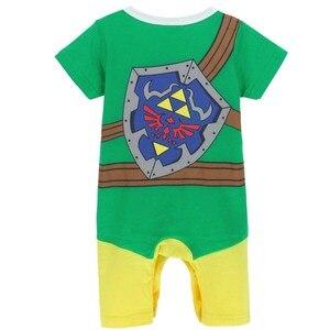 Костюм Zelda Link для маленьких мальчиков; Детский комбинезон; Карнавальный костюм; Комбинезон для новорожденных; Хеллоуин; Костюм для мальчиков; Летняя и зимняя одежда