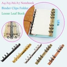 File-Folder Binder-Clip Notebook Planner Hoop Scrapbook Circle DIY Metal Loose-Leaf
