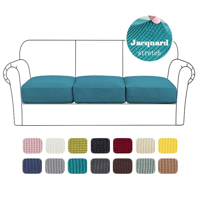 Sofá assento capa de almofada para animais de estimação jacquard crianças elástico cadeira capa funiture protetor grosso lavável removível slipcover