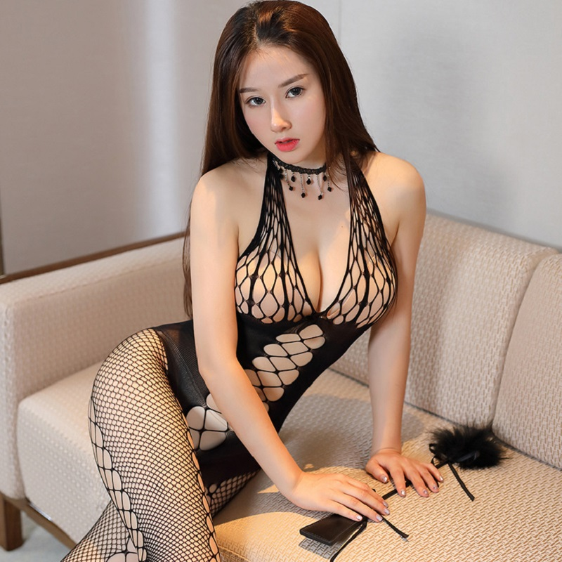 Printing Mesh Large Size Women Hot Erotic Sexy Lingerie Lace Open Crotch Porno Fishnet Transparent Underwear Baby Doll Lingerie