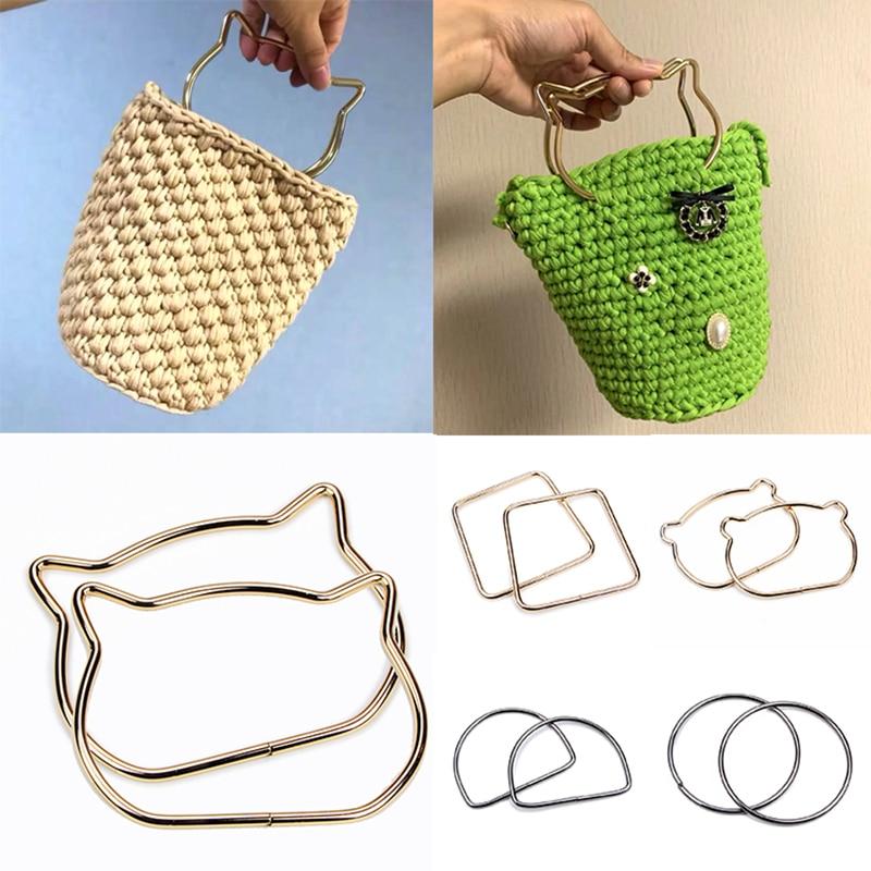 High Quality Metal Cute Cat Ear Shape Handle Replacement For DIY Shoulder Bags Girls Making Handbag Round Handle Wholesale