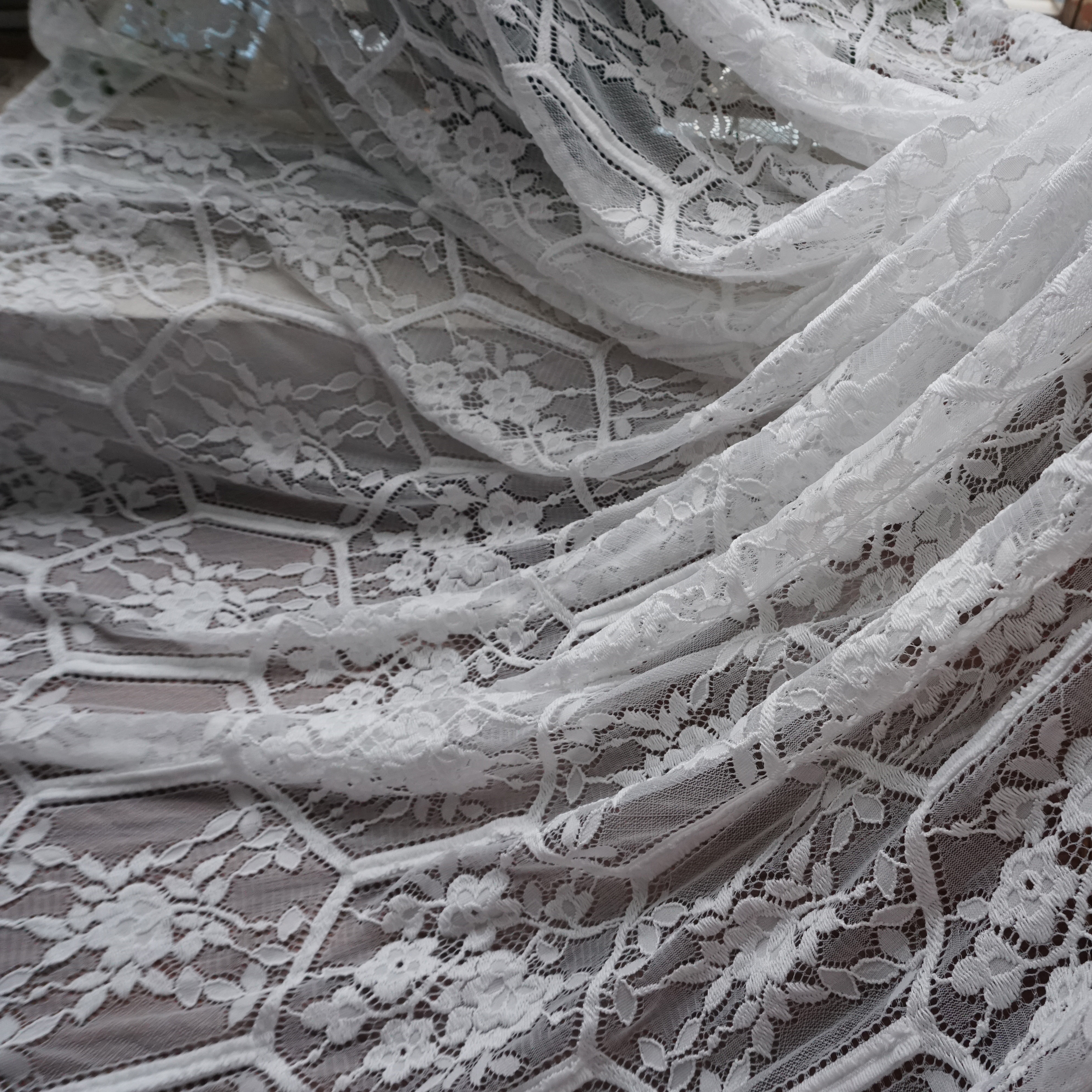 2019 Popular hot design soft eyelash french lace for wedding gowns 2D Top Quality Lucy Lace Boutique 1 piece 1 5x3 meters in Lace from Home Garden