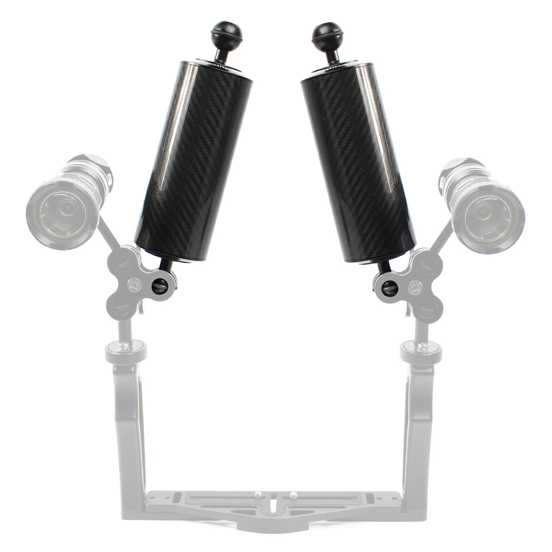 XT-XINTE Diving Dual Ball Diving Lighting Arm with Buoyancy Arm Extension Lens Base for Action Camera Accessories