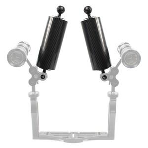Image 5 - XT XINTE คาร์บอนไฟเบอร์ EXTENSION ถาด ARM FLOAT ลอยน้ำ ARM Dual Ball SLR กล้องสำหรับดำน้ำสำหรับ GoPro Yi EKEN สำหรับ DJI OSMO