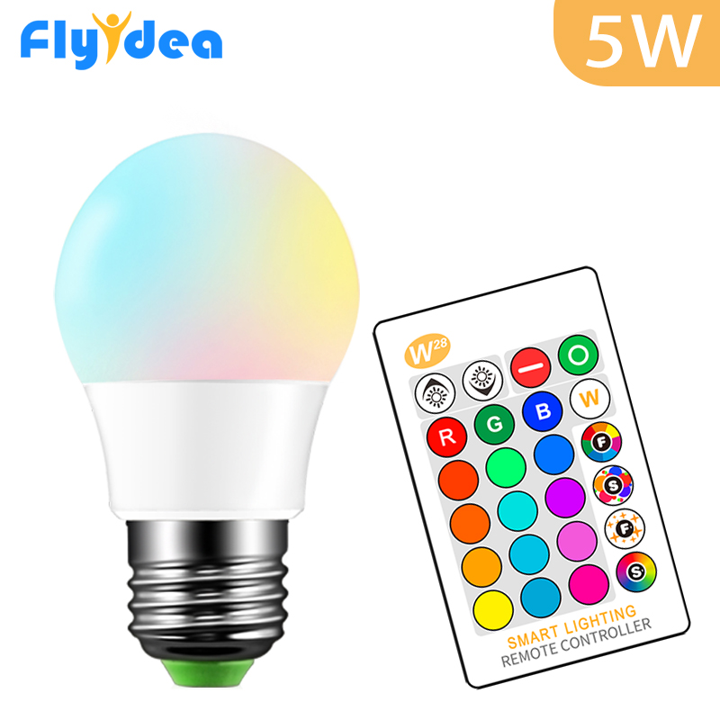 E27 5W LED Light Bulb16 Color Changing Magic Bulb 220V 110V RGB Party Smart Home Light Lamp Dimmable Memory IR Remote Control