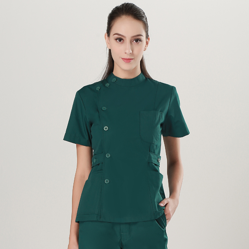 Nurse Uniform Short-sleeved Nursing Suit Split Suit Uniformes Medicos Para Mujer Medical Uniformes Enfermeria Ropa Enfermera