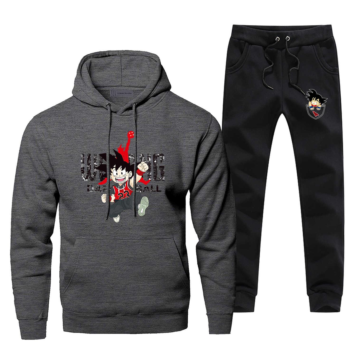 Dragon Ball Hoodies Sweatshirts Japan Anime Harajuku Mode herren Kleidung Lässig Fleece männer Hip Hop Jogging Hosen Sweatshirt