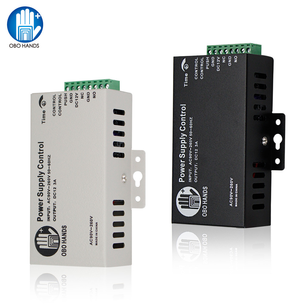5A Metal Access Control System Power Supply Switch DC12V/3A AC90V-260V Input NO/NC Time Delay For All Kinds Electronic Lock K80