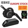 36V250W mid drive Bafang мотор комплект для переоборудования электрического велосипеда с 36V13AH батареей 8fun электродвигатель 250w ebike kit