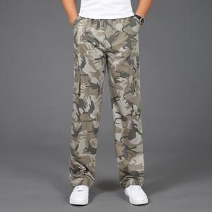 Image 1 - 2020 yeni Joggers erkekler sıcak satış rahat kamuflaj pantolon Homme yaz % 100% pamuk elastik rahat pantolon erkekler artı boyutu 5XL