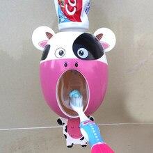 Crianças titular escova de dentes automático titular dispensador de dentes engraçado montagem na parede rack acessórios do banheiro conjunto