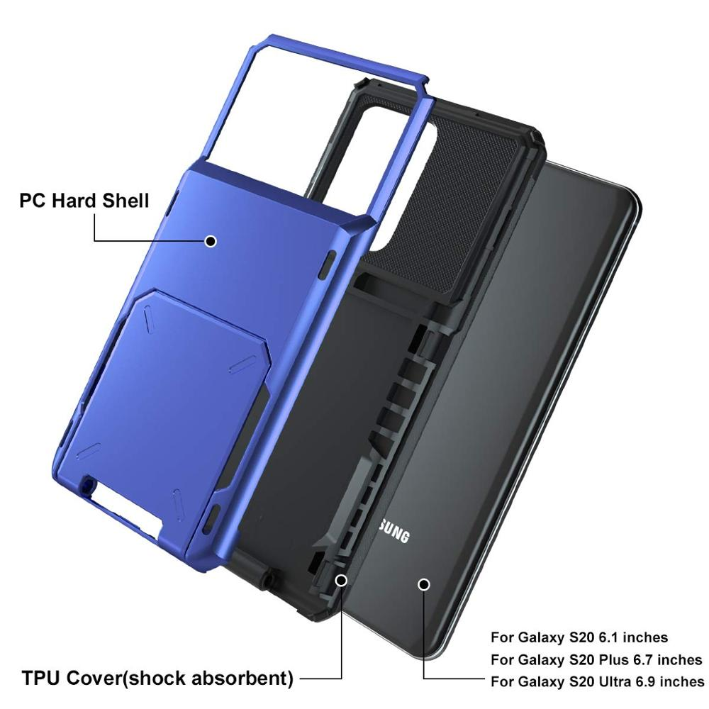 Case for Samsung Galaxy S20 Plus Ultra Case Wallet 5-Card Pocket Card Slot Cover For Samsung S20 Ultra Fundas S20+ S20plus S 20