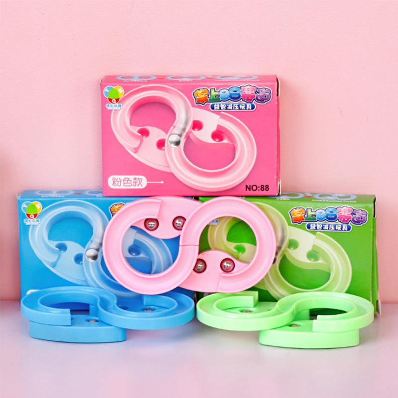 Decompression Novelty Toys Children's Decompression Puzzle Mini Palm 88 Steel Ball Track Game Training Child Concentration Gift