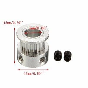 Image 4 - 2X GT2 koło pasowe 20 zębów otwór 5mm + 8ft 2.5m 2GT GT2 paska rozrządu i 2X napinacz 4X dla drukarki 3D RepRa