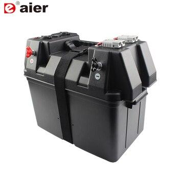 Máquina multifuncional 12V caja de batería doble USB cargador de coche con voltímetro LED encendedor de cigarrillos de coche para camión barco remolque RV