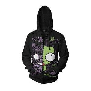 Image 5 - Anime Invader Alien Zim Hoodie Cosplay Movie Hoodie Sweatshirts 3D Men New