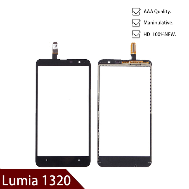 High Quality Replacement Touch screen for Nokia Lumia 1320 touch screen digitizer touchscreen front Glass lens panel