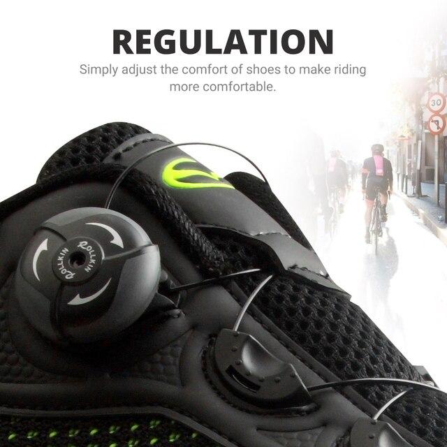 Exclusivo! Tiebao homens malha superior respirável sapatos de bicicleta de estrada não-bloqueio de borracha solas triathlon mtb sapatos de ciclismo unisex 3